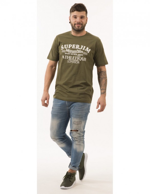 CAMISETA SUPERJIM S-REED COLOR VERDE OSCURO TALLA XL