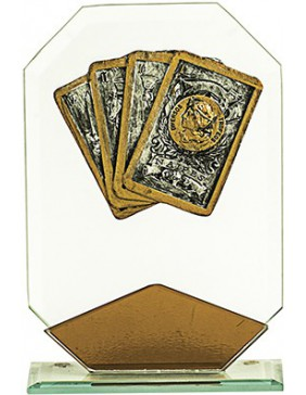 CARTAS CRISTAL ROMBO COBRE 17 cm