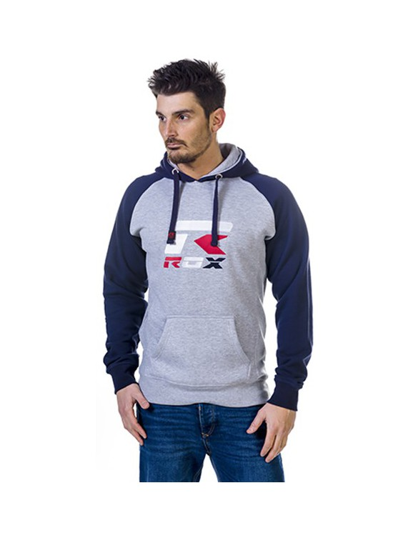 SUDADERA ROX R-BROOKLYN ADULTO COLOR GRIS/MARINO TALLA XL
