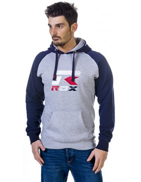 SUDADERA ROX R-BROOKLYN ADULTO COLOR ROYAL/GRIS TALLA XL